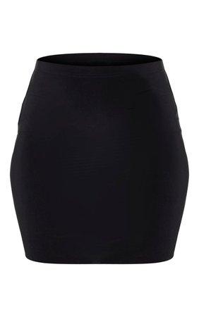 Black Slinky Mini Skirt | Co-Ords | PrettyLittleThing USA