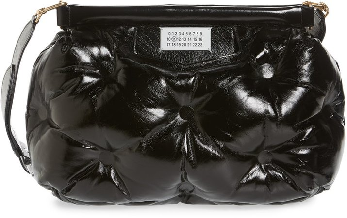 Glam Slam Leather Convertible Crossbody Bag