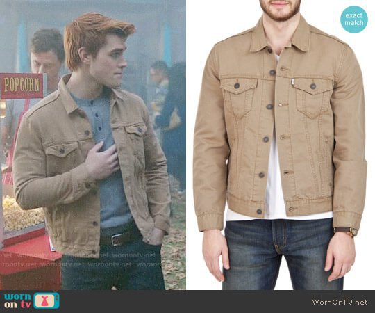 WornOnTV: Archie's beige trucker jacket on Riverdale | K.J. Apa | Clothes and Wardrobe from TV