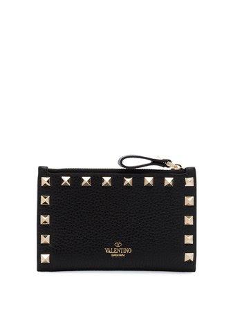 Valentino Garavani Rockstud Leather Wallet TW2P0605VSH Black | Farfetch
