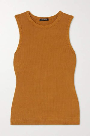 Net Sustain Ribbed Stretch-jersey Tank - Mustard