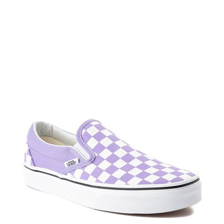Vans Slip On Checkerboard Skate Shoe - Violet Tulip | Journeys