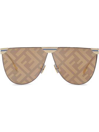 Fendi Pilotsolglasögon Med Logotypmönster - Farfetch