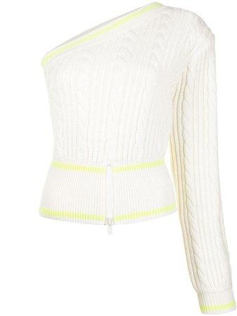 David Koma asymmetric cable-knit jumper - FARFETCH