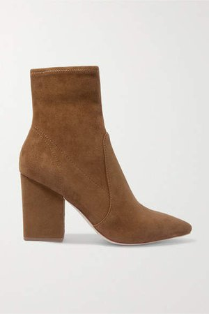 Isla Suede Ankle Boots - Brown
