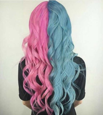 pink and blue hair