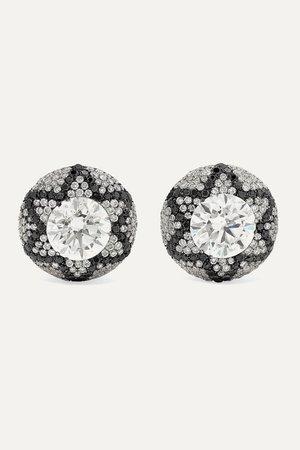 White gold Starburst 18-karat white gold diamond earrings | Martin Katz | NET-A-PORTER