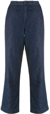 High-Rise Cropped Leg Jeans