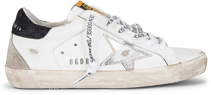 Superstar Sneaker in White, Silver & Black | FWRD