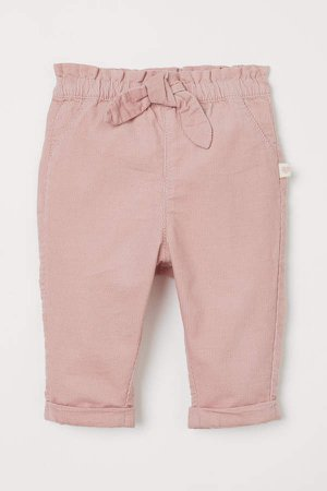 Cotton Pull-on Pants - Pink