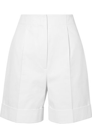 The Row | Abby cotton-twill shorts | NET-A-PORTER.COM