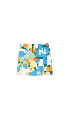Arty mini skirt - Women's Just in | Stradivarius United States