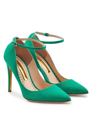 Balance Ankle Strap Suede Stiletto Pumps Gr. IT 40