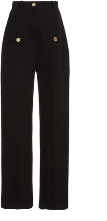 George Keburia Straight Leg High-Rise Pants