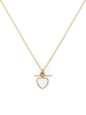 Petite Grand Heart And Bar Pendant Necklace - Farfetch