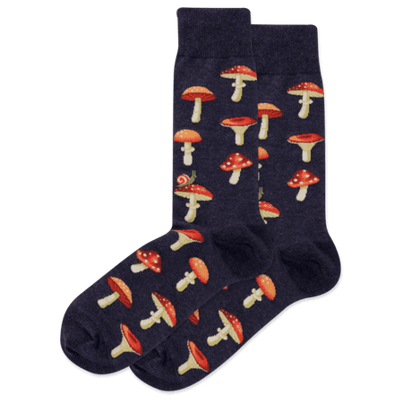 Men's Mushrooms Crew Socks – HOTSOX