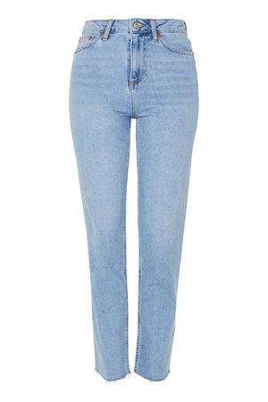 Bleach Raw Hem Straight Jeans | Topshop