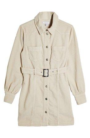 Topshop Corduroy Mini Shirtdress   Nordstrom
