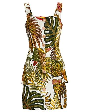 Farm Rio Spotted Leafs Mini Dress   INTERMIX®