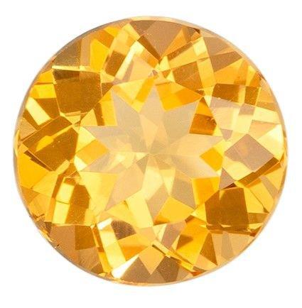 Rare Stone in 1.66 carats Topaz Genuine Gemstone in Round Cut, Sherry Peach, 7.4 mm