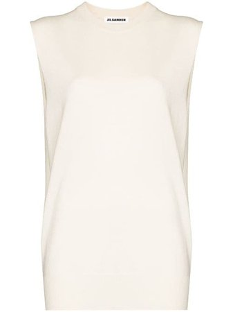 Jil Sander fine-knit Tank Top - Farfetch