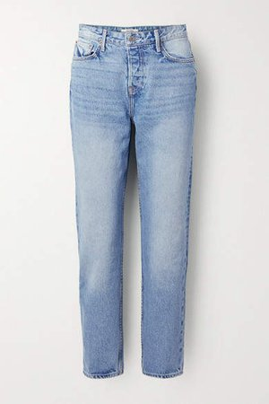Devon High-rise Straight-leg Jeans - Blue