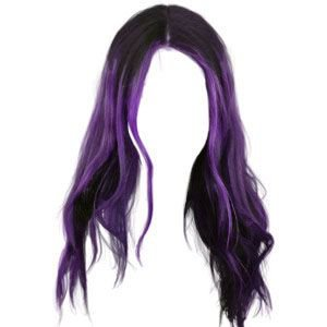 Dark Purple Hair png