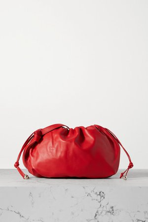 The Medium Bulb Gathered Leather Tote