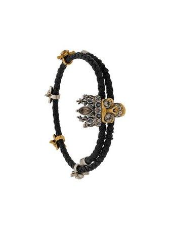 Black Alexander McQueen skull charm bracelet 553668CVJCZ - Farfetch