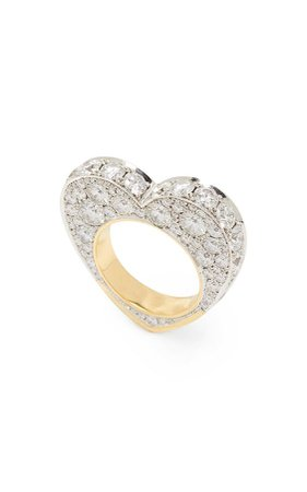 Jessica McCormack 14K White And Yellow Gold And Diamond Ring