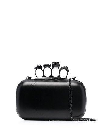 Alexander McQueen Skull Four-Ring Clutch Bag - Farfetch