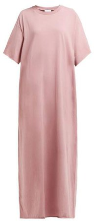 Jersey Maxi T Shirt Dress - Womens - Pink