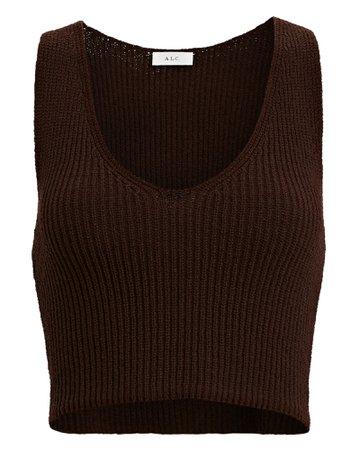 A.L.C. Eloise Rib Knit Crop Top | INTERMIX®