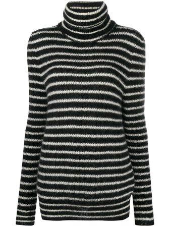 Saint Laurent striped knitted jumper - FARFETCH