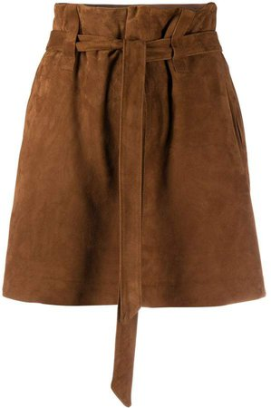 Mary paperbag-waist shorts