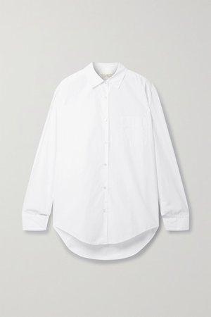 Kristen Cotton-poplin Shirt - White