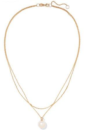 Natasha Schweitzer   9-karat gold pearl necklace   NET-A-PORTER.COM