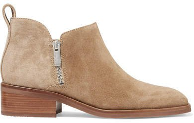 Alexa Suede Ankle Boots - Sand