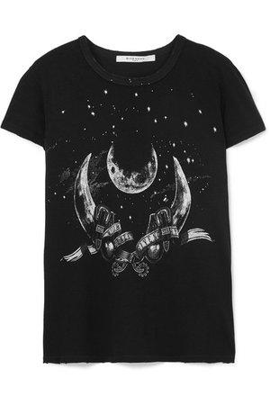Givenchy   T-shirt en jersey de coton effet vieilli imprimé Taurus   NET-A-PORTER.COM