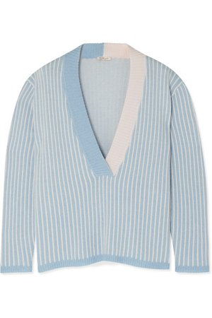 Morgan Lane | Eddy striped cashmere sweater | NET-A-PORTER.COM