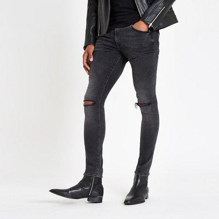 Dark grey- skinny jeans