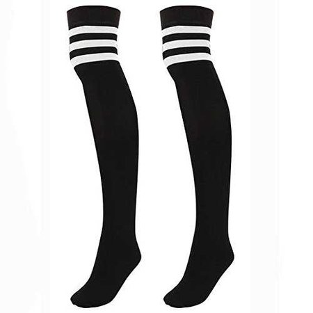 black knee high socks with white stripes - Google Search