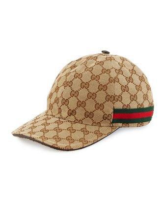 Gucci satin baseball cap in classic GG print