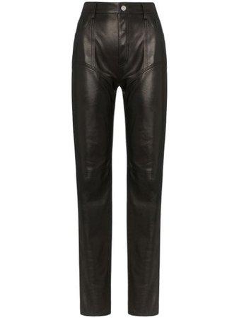 Mugler Pantalon Droit à Taille Haute - Farfetch