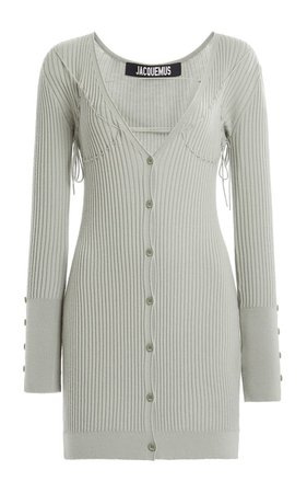 large_jacquemus-green-lauris-tie-detailed-ribbed-wool-mini-dress.jpg (499×799)