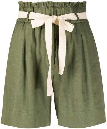 Paperbag Waist Wide-Leg Shorts