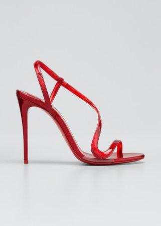 Rosalie Patent Red Sole Stiletto Sandals $795
