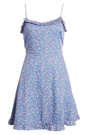 Madewell Floral Ruffle Trim Cotton Dress | Nordstrom
