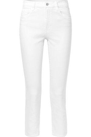 J Brand | Kyrah verkürzte, hoch sitzende Skinny Jeans | NET-A-PORTER.COM