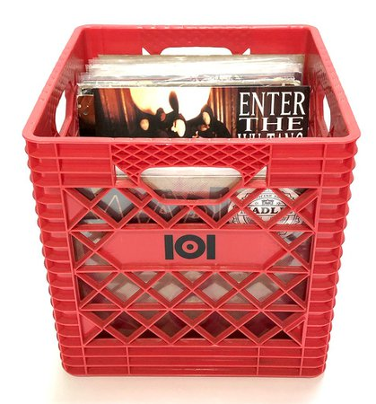 "12"" VINYL RECORD CRATE - RED – 101 Apparel"